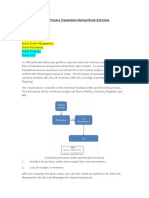 Oracle Period End Process