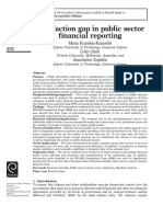 Satisfaction Gap in Public Sector Financial Reporting