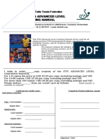 ITTF Advanced Coaching Manual Order Form