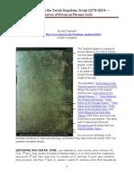 Work Notes on the Tavola Eugubine Script