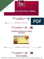 Clase #2 primera unidad diferencia entre ética y moral Reflexión.pdf