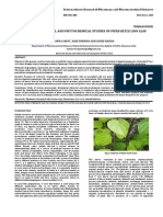 Pharmacognostical and Phytochemical Studies of Piper Betle Linn Leaf