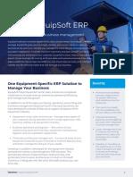 Aptean EquipSoft ERP DataSheet En