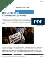 Serra Clara (2017) Violencia Machista y Terrorismo