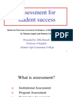 Assessment Student Success