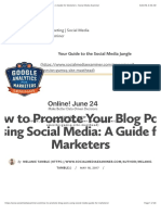 How to Promote Your Blog Posts Using Social Media