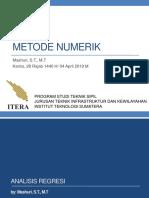 Metode Numerik - Analisis Regresi