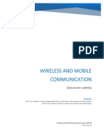 Wireless and Mobile Communication Final Report