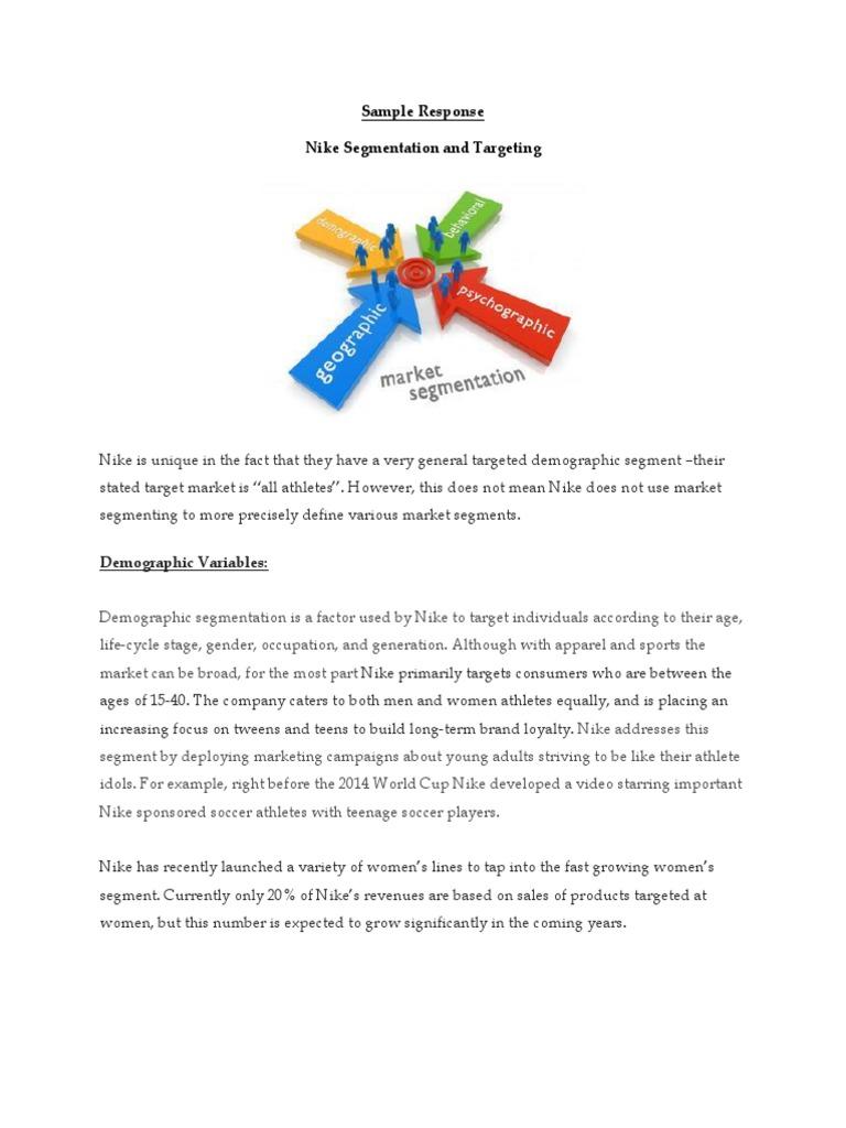 Persona Ondas Arne  Nike Segmentation and Targeting.pdf | Market Segmentation | Nike