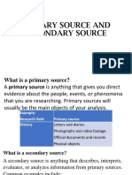 4.Primary Source and Secondary Source