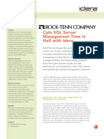 Cuts SQL Server Management Time in Half with Idera