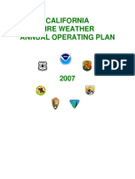 - California Fire Weather Annual Operating Plan (2007)