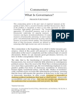 What is Governance - Francis Fukuyama