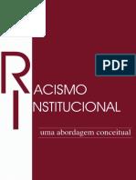GELEDÉS. Racismo Institucional - uma abordagem conceitual