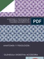 Anatomía y fisiología de páncreas, Pancreatitis aguda y crónica y Neoplasias pancreáticas