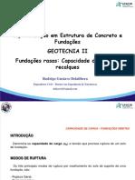 03 - Fundações Rasas Capacidade de Carga e Recalques