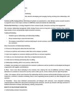 Principles of Marketing - Customer Relationship