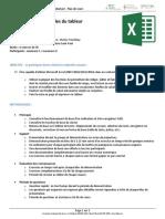 CFI-EXCEL01 - Microsoft Office Excel Débutant - Plan de Cours