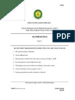 SPM Mid Year 2008 Melaka Maths Paper 1