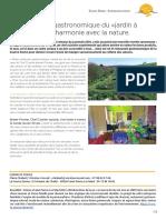Communiqué de presse Gastronomie de La Source Doree