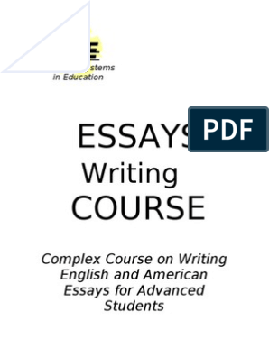 Compare And Contrast Essay Topics For High School Students  Essay On English Teacher also Exemplification Essay Thesis English Essays Writing Course For Advanced Students  Persuasive Essay Topics For High School