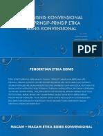 Etika Bisnis Konvensional Dan Prinsip-prinsip Etika Bisnis Konvensional