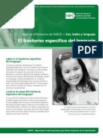SpecificLanguageImpairment Spanish