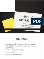 4m's of Operations