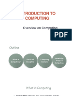 Overview on Computing