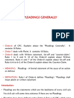 Fundamental Rules Relating to Pleadings
