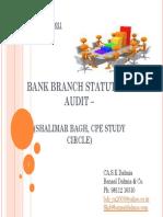 Bank branch Statutory Audit