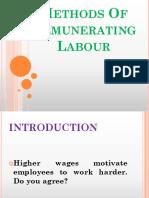 Methods of remunerating labor