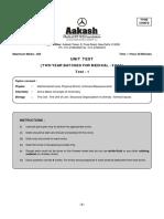 Aakash test paper