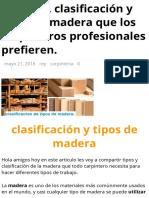 Conozca. clasificación y tipos de madera que los carpinteros profesionales prefieren. – rincón de maestros.pdf