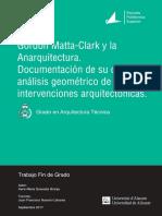 Gordon MattaClark y La Anarquitectura Documentaci Quesada Granja Irene Maria