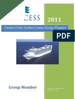 2011 Scuba Cruise Group Planner.final Copy