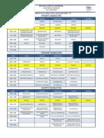 Ejemplo de horario semanal de una preparatoria