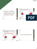 Chapter 1 - Matter, Measurement, And Problem Solving Std