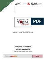 Tutorial de Navegação - Saúde Vocal Do Professor