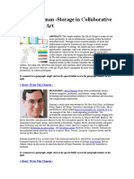 Storage in Collaborative Networked Art Freeman