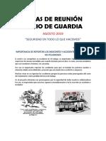 Charlas de Seguridad - Agosto 2019