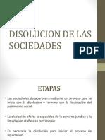 14 Sociedades - Disolucion de Las Sociedades