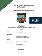 Primer Informe Parámetros Abastecimiento