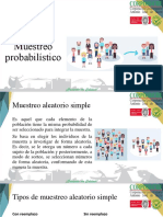 Tipos de muestreo probabilístico y no probabilístico