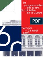 DP 60 Ans Ministère de La Culture