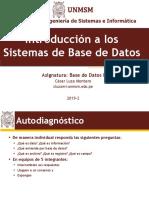 Unmsm Bd1 1 01 Introduccion a Las Base de Datos