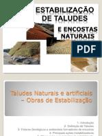 Estabilidade de Taludes e Encostas Naturais
