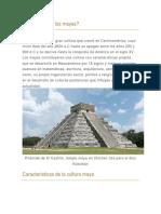 Quiénes Eran Los Mayas