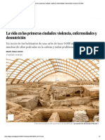 La vida en las primeras ciudades- viole...des y desnutrición | Ciencia | EL PAÍS