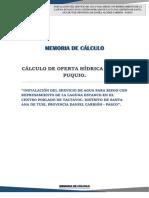 Caratula- Calculo de Aforo